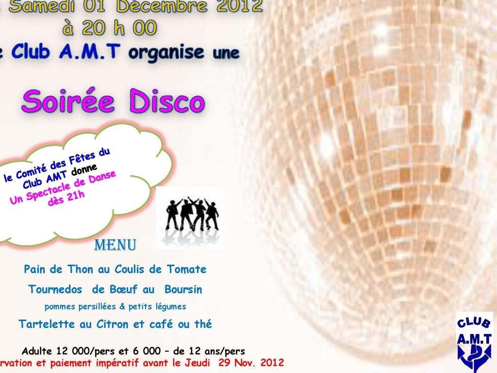 Soirée dansante samedi 1er décembre 2012 dans Le Club AMT vous propose soiree-disco-2012