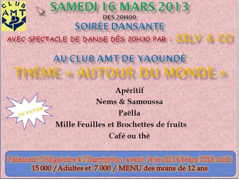 Soirée dansante le 16 mars 2013 dans Le Club AMT vous propose sans-titre