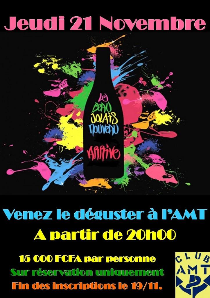 SOIREE BEAUJOLAIS A L'AMT dans Le Club AMT vous propose affiche-beaujolais-20131