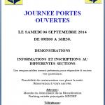 <b>JOURNEE PORTES OUVERTES  2014-2015</b> <br />